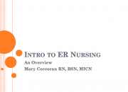Intro to ER Nursing