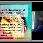 Dr. Mike Mesisca- Smoke Inhalation